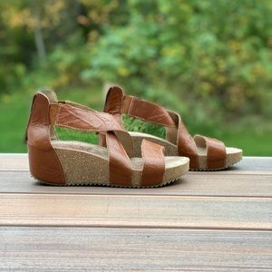 Josef Seibel leather sandals size 8